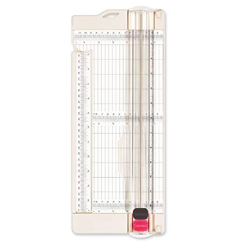 """Vaessen Creative Cortadora de Papel + Base para Marcar 4.5"""" Vaes, Blanco, 30.5 X 11.4 X 2 cm"""