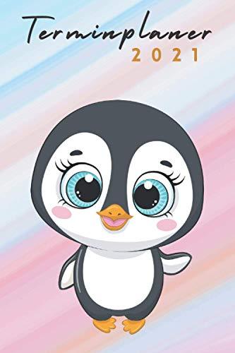 terminplaner 2021 pinguin: pinguin kalender 2021 - wochenplaner 2021 - Wochenkalender von Januar bis Dezember 2021 - 1 woche 2 seiten - jahresplaner ... 2021 A5 - geschenk pinguin für frauen männer