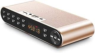 KJRJLY Bluetooth Speaker Dual Speakers HIFI Audio Card USB Portable Bass Phone Wireless Small Steel Cannon Radio Outdoor Bluetooth