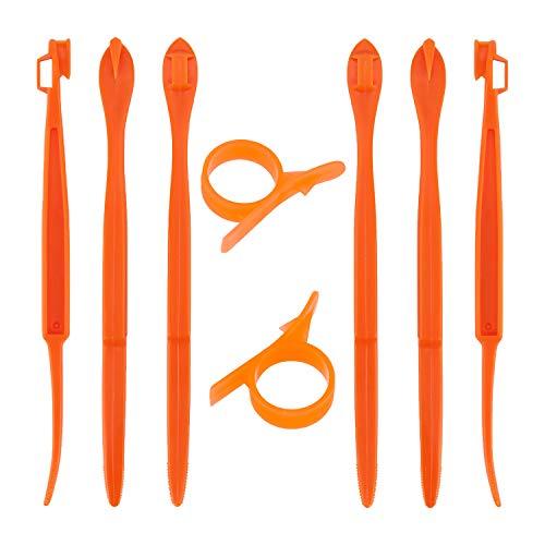 LUTER 6+2pcs Orange Peeler Citrus RemoverPlastic Slicer CutterEasy Fruit OpenerKitchen Gadget for Orange, Avacados