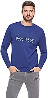 Hugo Boss Athleisure Salbo Big Logo Crew Neck Sweatshirt
