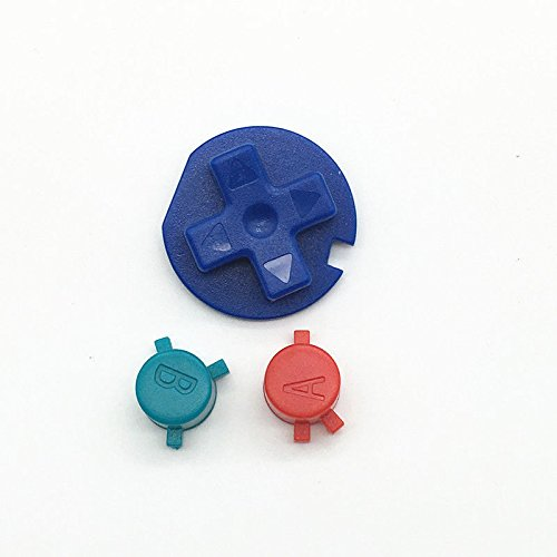 DIY Multi-Color A B Buttons Replacement for Gameboy Color GBC Buttons for GBC D Pads Repair Parts