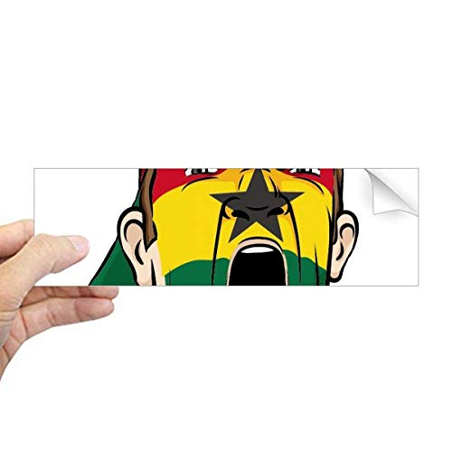 DIYthinker Ghana Vlag Facial Make-up Mask Screaming Cap Rechthoek Bumper Sticker Notebook Window Decal