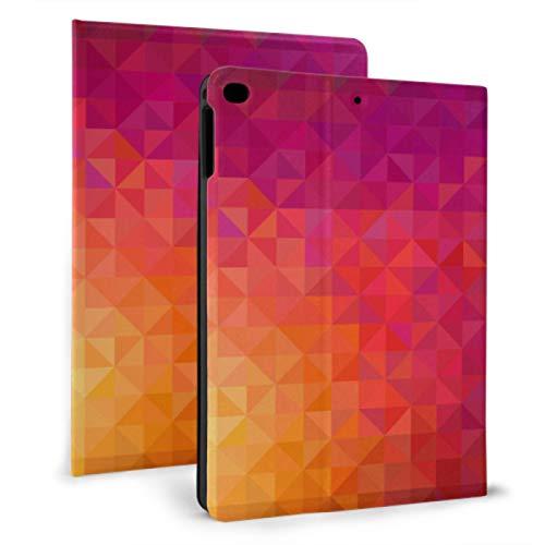 XiexHOME Funda de Cuero para iPad La geometría Simple es Regular 9.7 Funda para iPad para iPad Mini 4 / Mini 5/2018 6th / 2017 5th / Air/Air 2 con Auto Wake/Sleep Magnetic Cute iPad Cov