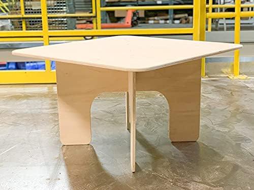 Montessori unisex Table Wooden Toddler Luxury goods for Kids Squar