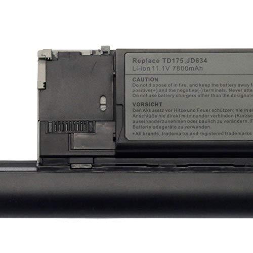 BTMKS 9 Zellen 7800mAh PC764 JD634 Notebook Laptop Akku für Dell Latitude D620 D630 D630c D630N ATG/UMA D631 Precision M2300 Series GD776 GD787 JD605 JD606 JD610 JD648 312-0653 310-9081 Batterie