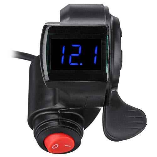 KOET Acelerador negro del pulgar de la pantalla LED con el artículo del interruptor de poder para la bici
