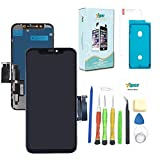 for iPhone 8 Screen Replacement 4.7 inch LCD Complete Repair Kits - LCD Display 3D Touch Screen Digitizer Frame Replacement Full Assembly with Back Plate, Tempered Glass, Tools,Instruction (Black)