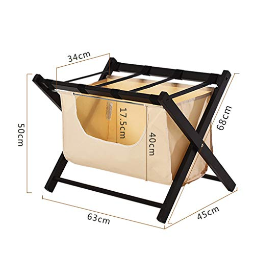 Best Buy! Love-xinglijia Luggage Rack-Solid Wood Folding Luggage Rack Hotel Home Bedroom Living Room...