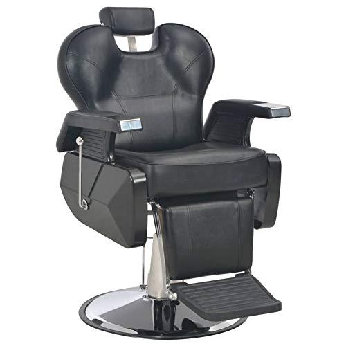 Sillón de barbería peluquería, sillón de barbería giratorio a 360 ° con respaldo y reposacabezas ajustables para maquillaje visagista esteticista 72 x 68 x 98 cm