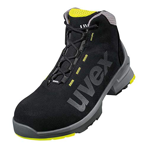 Uvex 1 Arbeitsstiefel - S2-Sicherheitsstiefel S1 SRC ESD - Lime-Schwarz, Größe:43