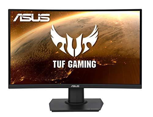 ASUS TUF Gaming VG24VQE - Monitor curvo da 59,9 cm (23,6 pollici) (Full HD, 165 Hz, FreeSync Premium, HDMI, DisplayPort, tempo di risposta 1 ms)