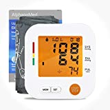 IntellVision Blood Pressure Upper Arm Monitor-Digital Automatic Upper Arm Bp Machine & Pulse Rate Monitoring Meter with Large Adjustable Cuff 8.6'-16.5' 90 Reading Memory Large LCD Display