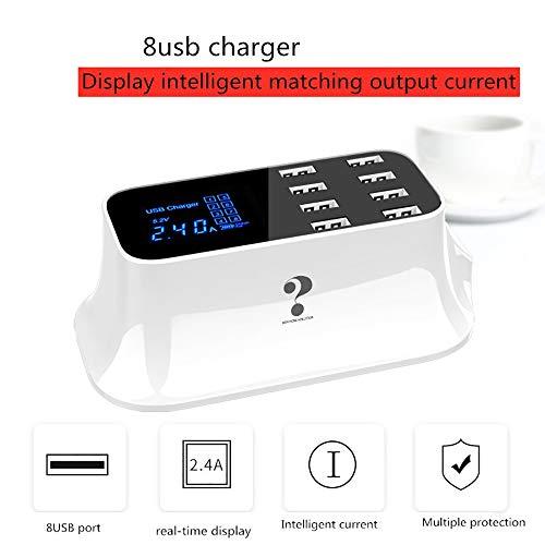 avis les numériques smartphones professionnel WXJHA Chargeur USB 8 ports Station de charge USB Station de charge Chargeur de bureau…