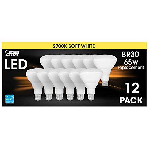 Feit Electric 65 Watt Replacement LED Br30 Energy Star Flood Soft White, 12 Pk