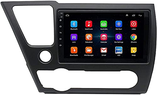 Compatible Para Honda Civic 2008-2012 Android 9.0 SAT NAV FM Radio Receptor Doble Din Auto Audio Player Coche Estéreo De 9 Pulgadas Pantalla Táctil LCD Monitor GPS Navegación,4 core 4G+WiFi 1+16GB