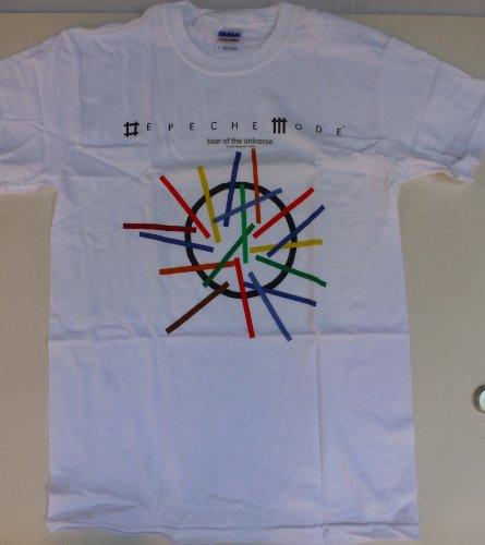 Depeche Mode-Tour of the universe T-Shirt (WHT, XXL, Male)