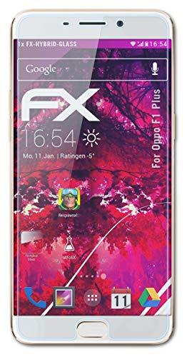 atFolix Glasfolie kompatibel mit Oppo F1 Plus / R9 Panzerfolie, 9H Hybrid-Glass FX Schutzpanzer Folie