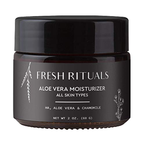Vegan Face Moisturizer with Hyaluronic Acid, Aloe Vera and Niacinamide   2 ounce   Cruelty Free, Paraben Free, Natural Ingredients   Light Weight Daily Moisturizing Cream