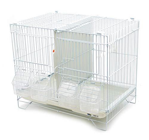 BPS Jaula de Incubación Jaula de Cría para Pájaros con Comedero Bebedero Saltador Cubeta Tamaño M/L (M: 43 x 29 x 40 cm) BPS-1304