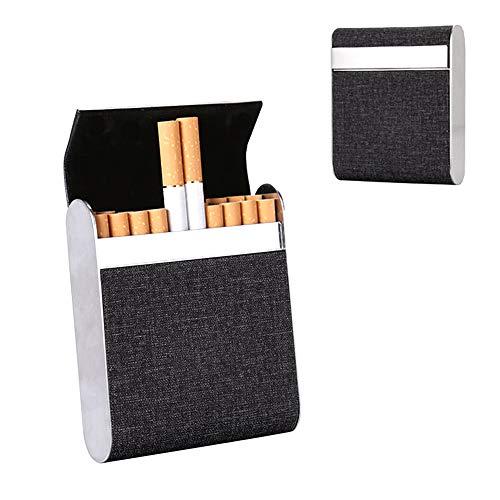Huture 1 Stück Zigarettenschachtel Box Edelstahl Zigarettenetuis Einrast Funktion Zigaretten Kasten Verstärktem Für 20er Standard Schachteln für Männer Frauen Damen Geschenk Weihnachten Geburtstag