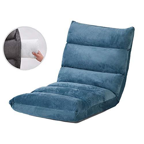 Cómoda Silla de Piso para Dormitorio Silla Plegable extraíble y Lavable Silla de Piso Plegable con Respaldo Lazy Lounge Sofa Silla de meditación con Ajuste de 5 Engranajes