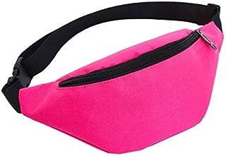 FLW AMG1 Unisex Waterproof Waist Pack Belly Bags Purse(Black) (Color : Pink)