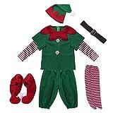 Poliestere di alta qualità, realizzato con materiali di alta qualità, comodo e morbido da indossare. Il costume natalizio femminile include: 1 * vestito; 1 * cappello; 1 * cintura; 1 * paio di calze.Il costume natalizio maschile include: 1 * top; 1 *...