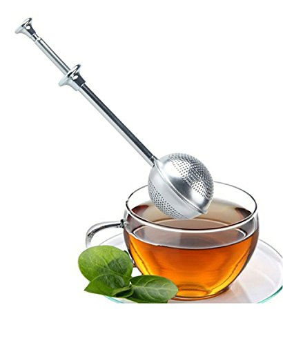 Vivian Stainless Steel Long Handled Tea Ball Strainer Tea Infuser