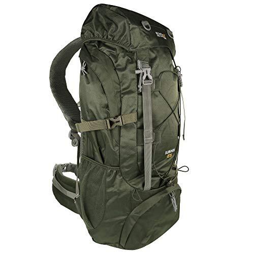 Regatta Survivor III Hardwearing Padded Camping and Hiking Rucksack - Dark Khaki, 45 Litre