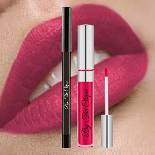 "Premium Long Lasting Matte Lip Kit  "" Pink Poison"" Ultra Wear Cliquestick Lipstick and Lin…"