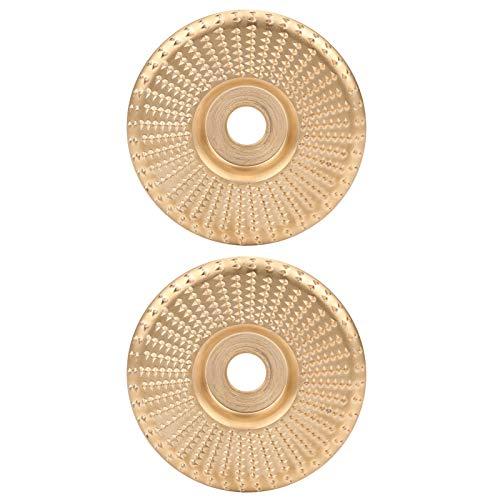 2 Piezas de Arco de Borde Plano de muela de Oro Compuesto de Cientos de Dientes Muy Afilados para amoladoras angulares eléctricas estándar
