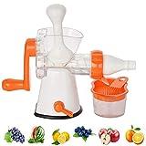 MYHZH Juicer Manual Multi Funcional Exprimidor Postre Helado Fácil de Limpiar Nutrición Valor de la Mano fría Juicer de la Prensa para Todas Las Frutas y Verduras Cocina Exprimidor