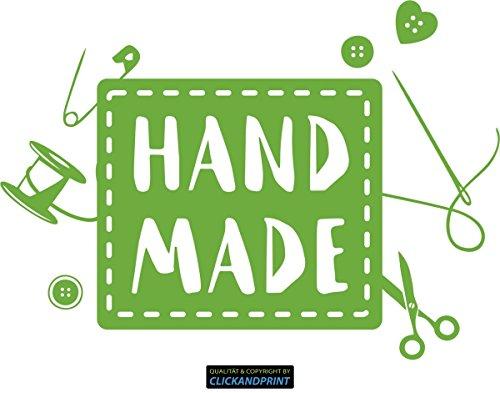 CLICKANDPRINT Aufkleber » Handmade, 50x35,9cm, Lindgrün • Wandtattoo/Wandaufkleber/Wandsticker/Wanddeko/Vinyl