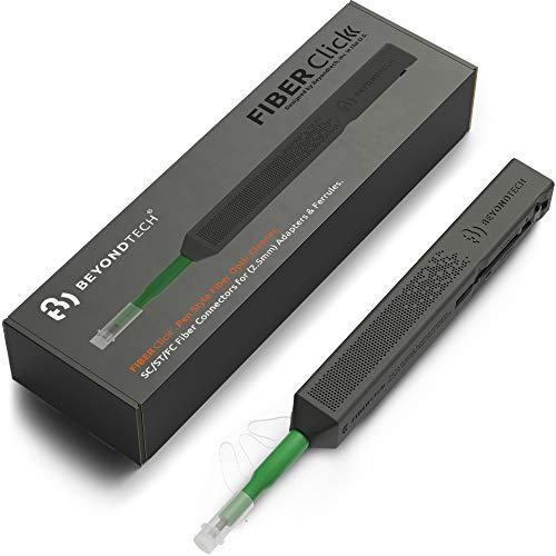 SC Fiber Cleaner Pen 25mm Compatible with SC/ST/FC Fiber Optic Cleaner  Beyondtech FiberClick Series
