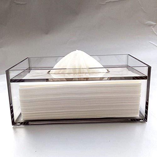 XUSHEN-HU Tejido caja de pañuelos de almacenamiento de Caja Los titulares de tejido dibujado mano de la caja del tejido de la sala de habitaciones del hotel acrílico hogar personalizable acrílico teji