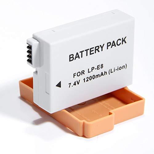 Bateria LP-E8 1200mAh para Canon EOS Digital Rebel T2i, T3i, T5i EOS digital SLR 550D, EOS KISS Digital x5