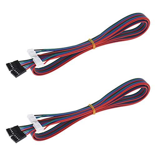 4 cavi motore passo-passo per stampante 3D adattatore da terminale femmina a femmina, 4 pin a 6 pin (filo 1 m).