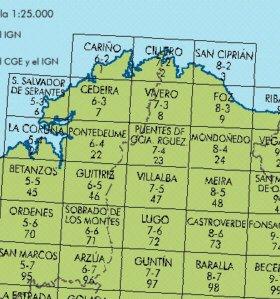 TUCUMAN AVENTURA - Mapas topográficos del ejército de Salamanca. 422-475-476-477-500.Escala 1:50.000