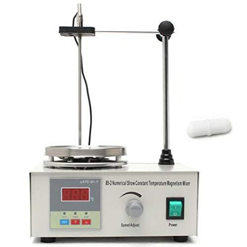 85-2 Mezclador de placa calefactora Agitador magnético con placa calefactora Pantalla digital Equipo de laboratorio de la escuela EE. UU. UE Reino Unido AU Enchufe ToGames-ES