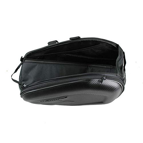 Check Out This Hyuzara Universal Black 2Pcs Left + Right 29L Expandable Motorcycle Saddle Bags Kit N...