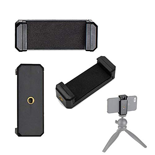 Adurei Soporte Adaptador Universal para Trípode Monopod Móvil Smartphone con Selfie Stick Compitable para iPhone Samsung Huawei Sony(Negro, 2 Pack)
