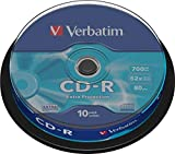 Verbatim CD-R 700MB 52x Extra Protection Surface Shrink 10