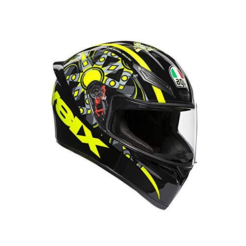 AGV Casco de moto 0281A0I0_003_ML K1 E2205 Top-Flavum 46, amarillo, ta