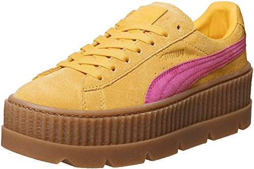 Puma Damen Sneakers Cleated Creeper Suede gelb (31) 37,5