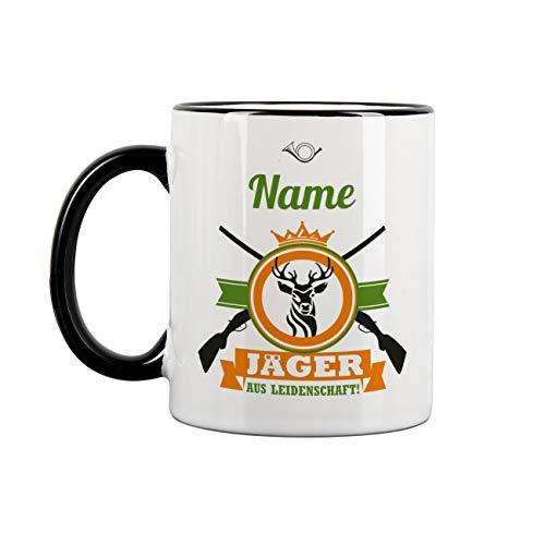 Herz und Heim® Personalisierte Tasse mit Namen für Jäger