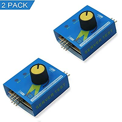 SIKAF MALL RC Servo Tester 3CH Digital Multi ECS Consistency Speed Controler Checker