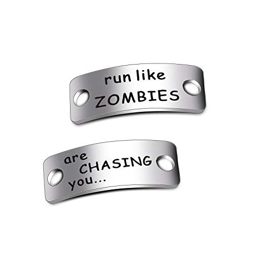 WUSUANED Run Like Zombies are Chasing You Shoe Tags Fitness Gift for Runners (Run Like Zombies)