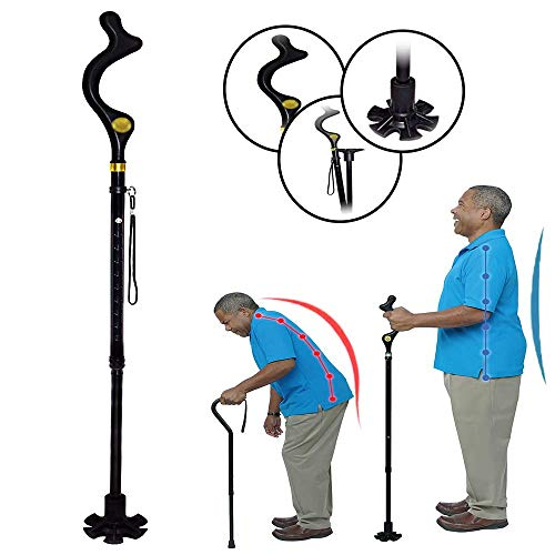 Fashionable Posture Walking-Cane Adjustable Folding Stick for Men-Women Seniors and Elderly - http://coolthings.us