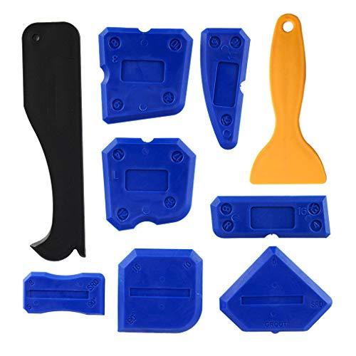 Guangcailun 9pcs calafateo Kit de Herramientas de Acabado sellador de Scratch Remover Herramienta de Sellado raspador
